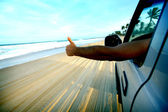 Plaj drive — Stok fotoğraf