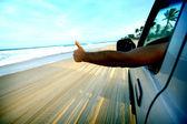 Beach drive — Stockfoto