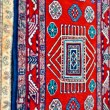 Stock Photo: Colored wool handmade carpets closeup