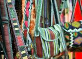 Handmade genuínos étnicos sacos feitos de pano — Foto Stock