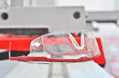 Plastic industrial safety glasses — Stock Photo