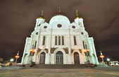Christ the Saviour Cathedral at night. Moscow. Russia — Foto de Stock