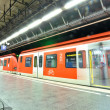 Stock Photo: Subway station with train in Munich, Germany