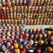 A lot of Russian national souvenirs - matryoshkas — Stock Photo
