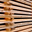 A stack of the wooden pallets — Stock Photo