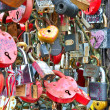 Stock Photo: Colorful wedding padlocks at wedding tree