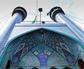 Entrance to the mosque Tehran, Iran — Stock Photo