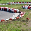 Stock Photo: Empty bend on race car circuit