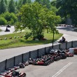 Go kart racing on circuit — Stock Photo #6284421