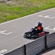Go kart racing on circuit — Stock Photo