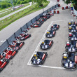 Stock Photo: Racing karts in parc fermé