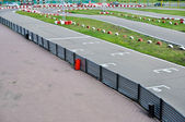 Start grid on an open racetrack — Stock Photo