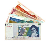 Currency of Iran various bills — Stock Photo