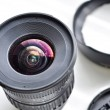 Stock Photo: Lens with cap and blend