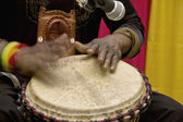 Beating the drum — Stock fotografie