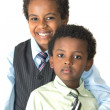 Stock Photo: Two young brothers