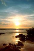 Tramonto sulla spiaggia — Foto Stock