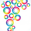 Bright gears of different colors - Stock Vector