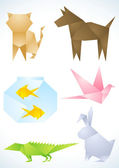 Pets are made of paper — Stock Vector