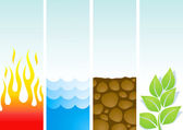 Four illustrations of the elements — Stock Vector