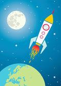 Spacecraft in space — Stock Vector