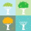 Four seasons and a tree — Stock Vector #6636637