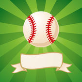 Baseball on a bright background — Stock Vector