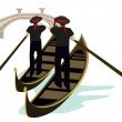 Stock Vector: Gondoliers of Venice