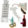 Stock Vector: Symbols of Italy