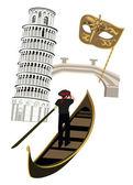 Symboler för italien — Stockvektor