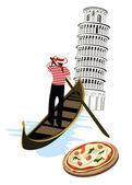 Symbols of Italy — Stock Vector