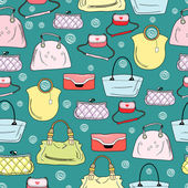 Pattern of women's handbags — Stock Vector