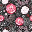 Royalty-Free Stock Imagen vectorial: Bright floral pattern