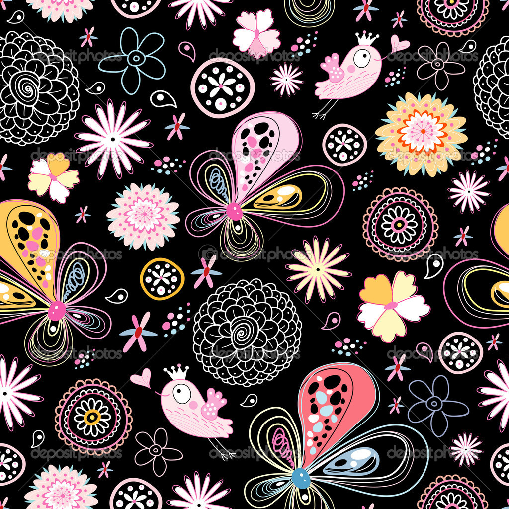 Bright floral pattern — Stock Vector © tanor #5572707