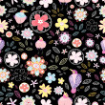 Цветочный узор с птицами — Cтоковый вектор #5751220