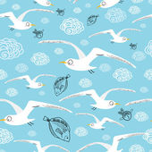 Texture of flying gulls — Stock Vector