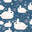 Texture of the bunnies - Stock Vector