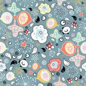抽象图案与开朗滴 — 图库矢量图片
