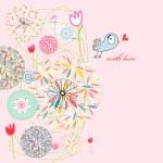 Abstract postcard love bird — Stock Vector #6211785
