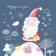 Postcard from Santa Claus — Image vectorielle