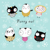 Funny owl — Stock Vector