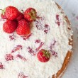 Sponge cake with strawberry cream. - Stock Photo