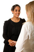 Indian woman handshake — Stock Photo