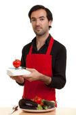 Chef tomatoe scale — Stock Photo