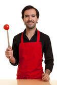 Chef tomatoe knife — Stock Photo
