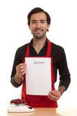 Chef menu — Stock Photo