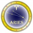 Zodiac sign aries - Stock Vector