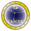 Zodiac sign cancer - Stock Vector