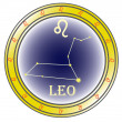 Stock Vector: Zodiac sign leo