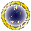 Stock Vector: Zodiac sign pisces